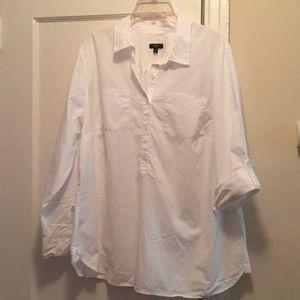 Talbots women's tunic collar shirt size 16W
